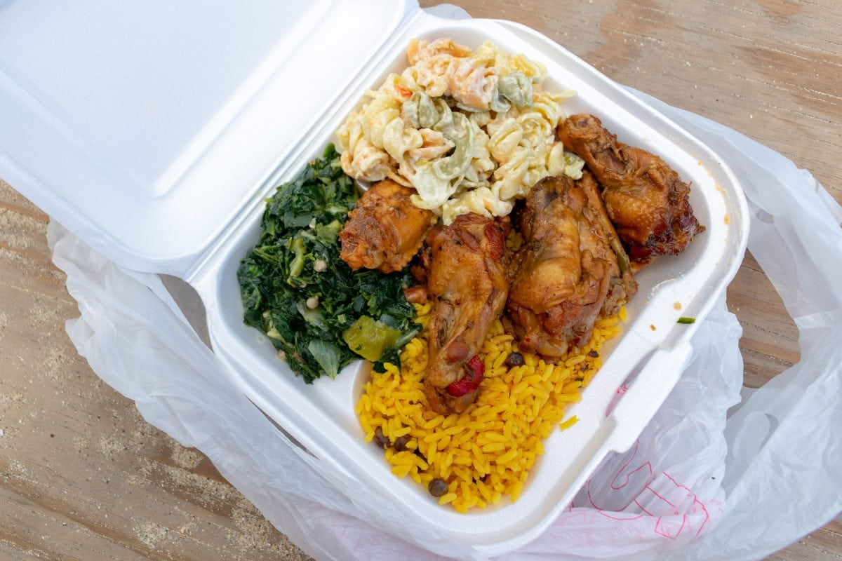 My lunch by Miss Jackie's Food Truck, St. Thomas | SBPR