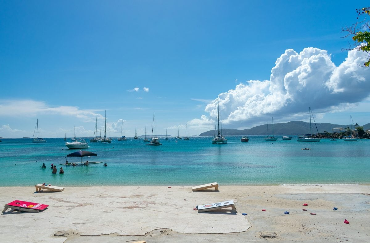 Game on at Dinghy's Beach Bar, Water Island, St. Thomas | SBPR
