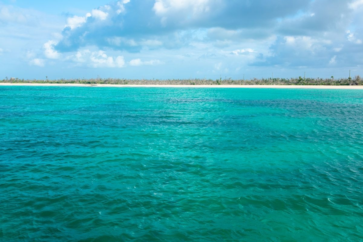 Barbuda Pink Sand Beach from the sea – May 2, 2018 | SBPR