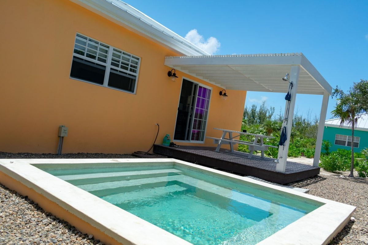 Cool little pool at Empyrean Villas, North Caicos | SBPR