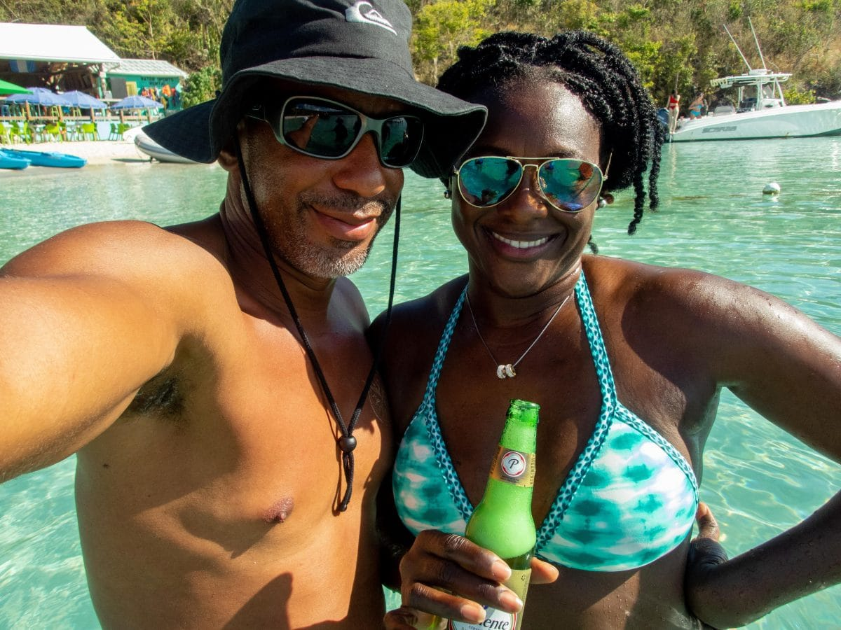 Meeting the people at Dinghy's, Water Island, St. Thomas | SBPR