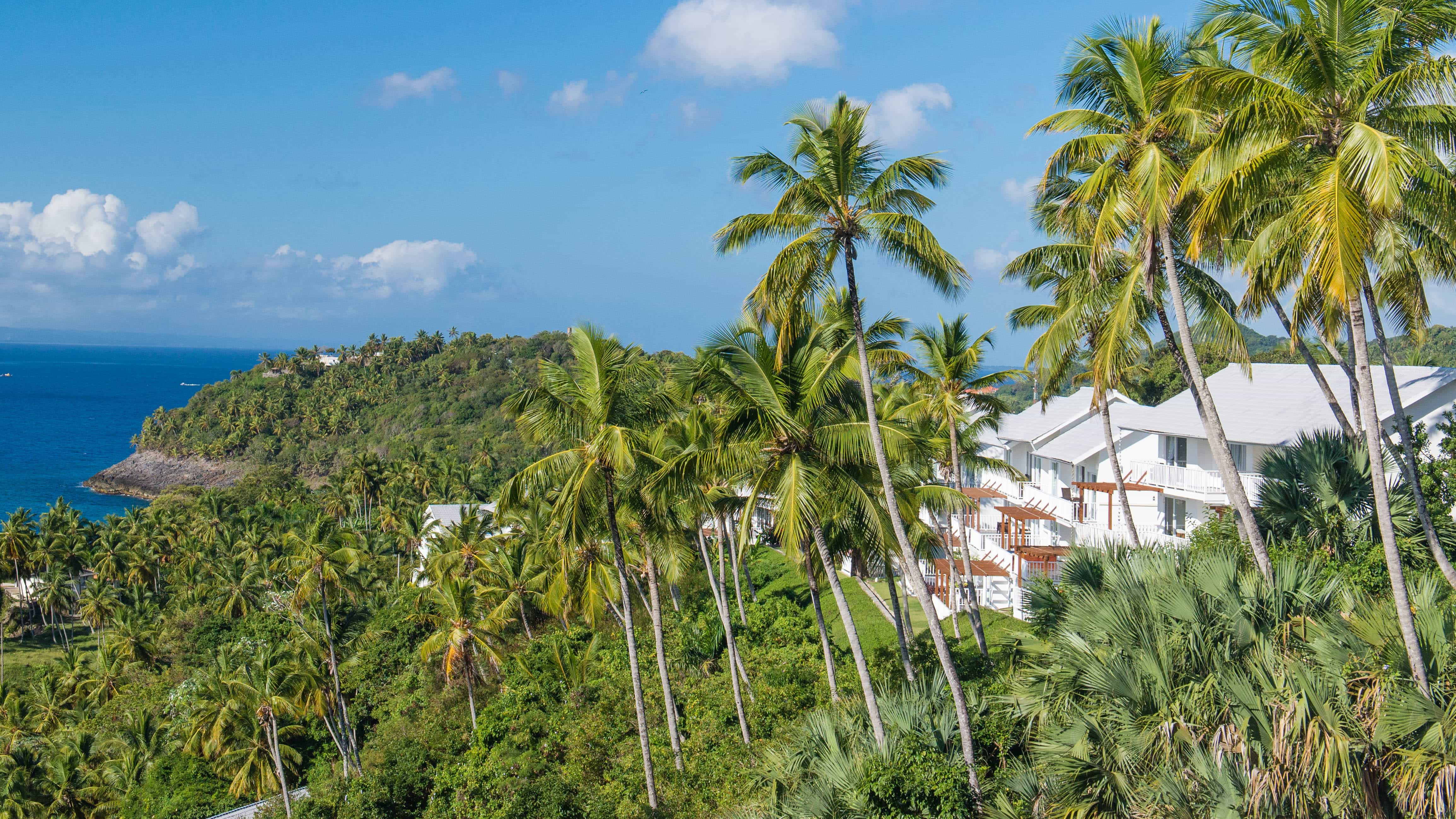 Xeliter is sprinkled on a steep slope affording incredible views of the Samana Bay.