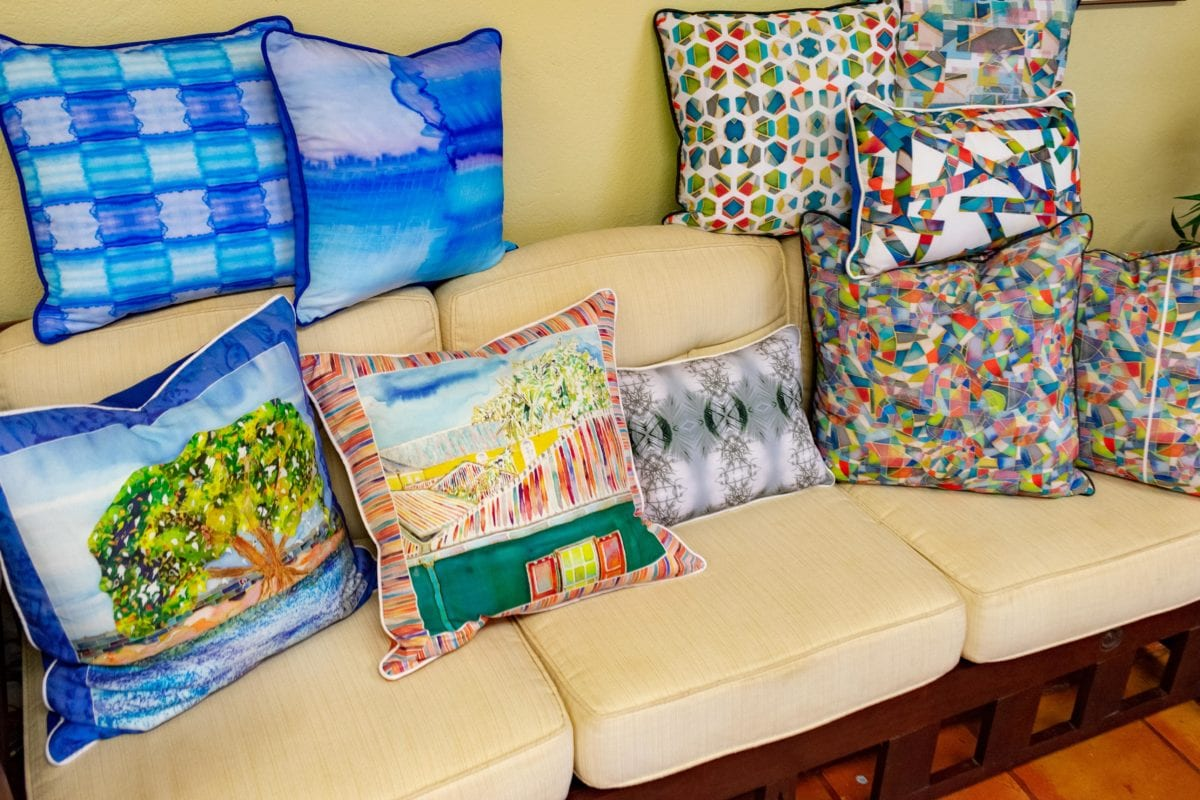 Debbie Sun Design Studio Pillows, St. Croix | SBPR
