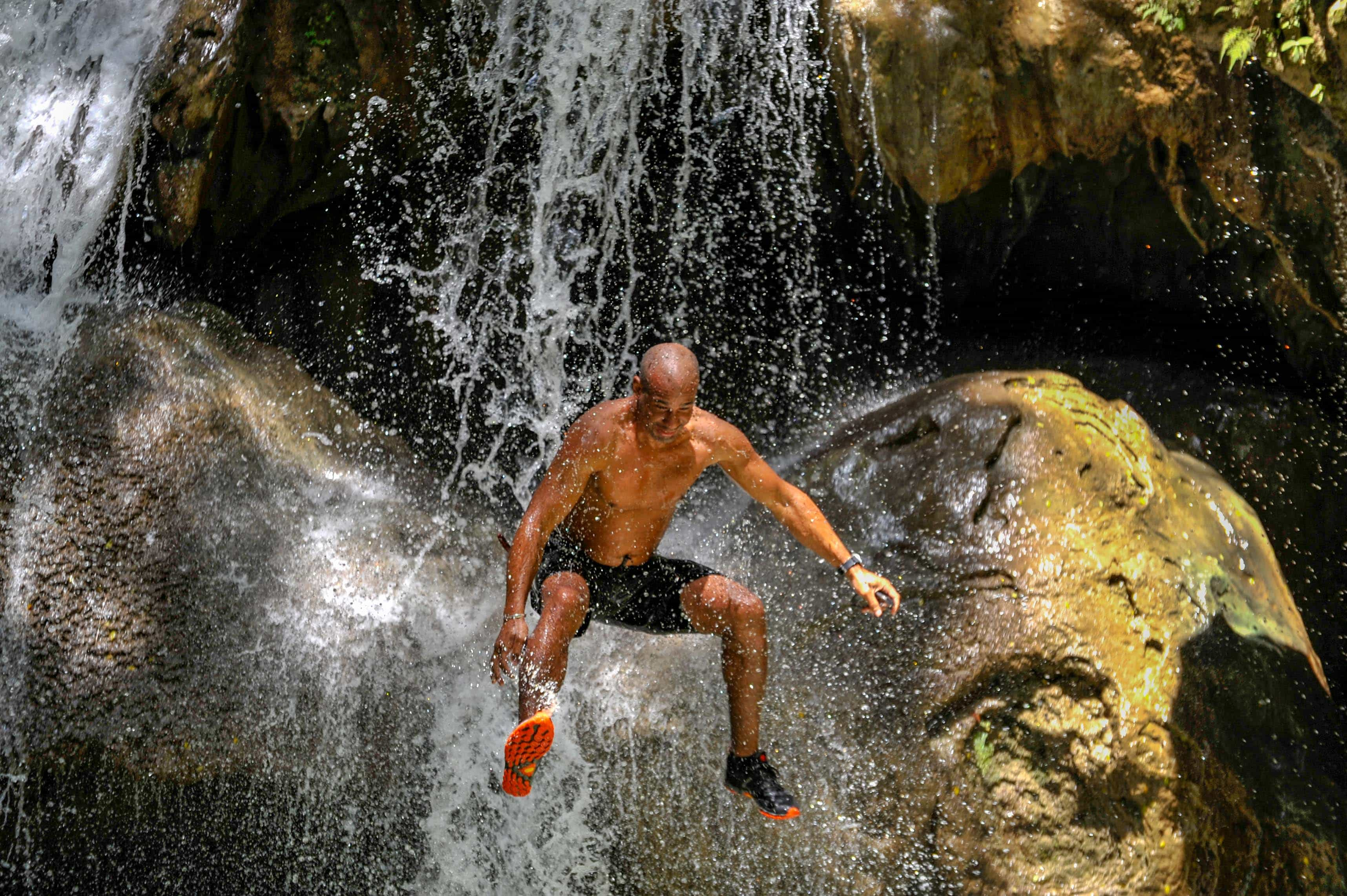 Leaping Into Adventure at Bassin Bleu, Haiti | SBPR