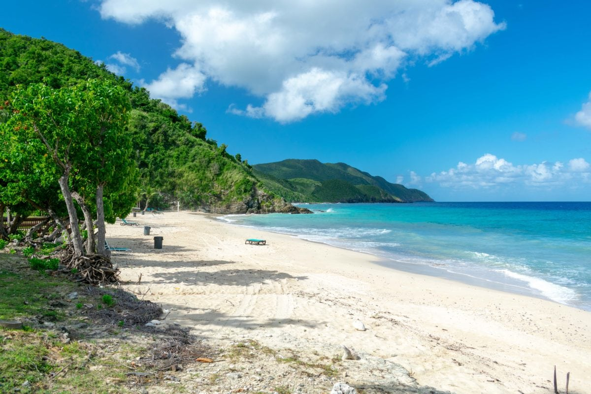 The beach at Carambola still shines, though the property itself seems a long way from full recovery | SBPR