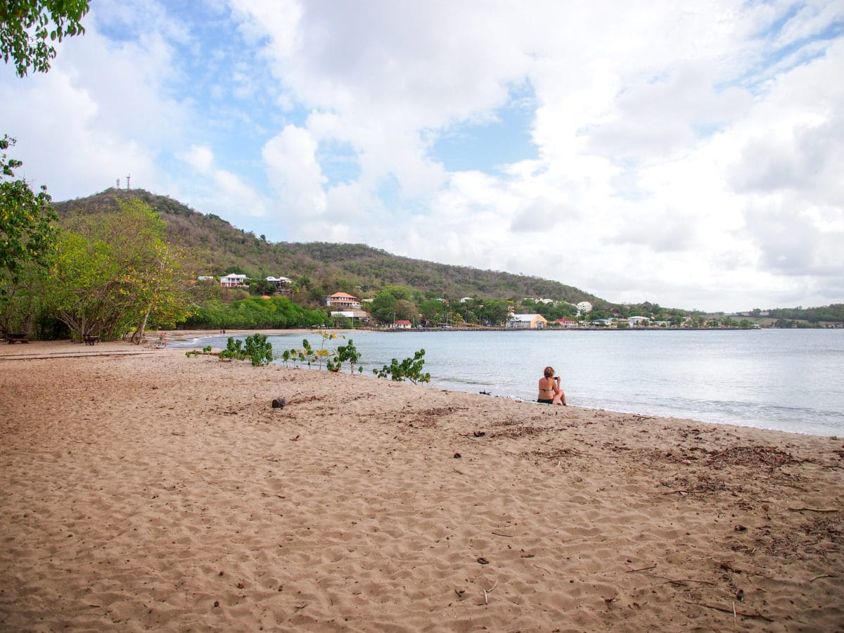 Cooling out on LaBrèche Beach, Martinique | SBPR