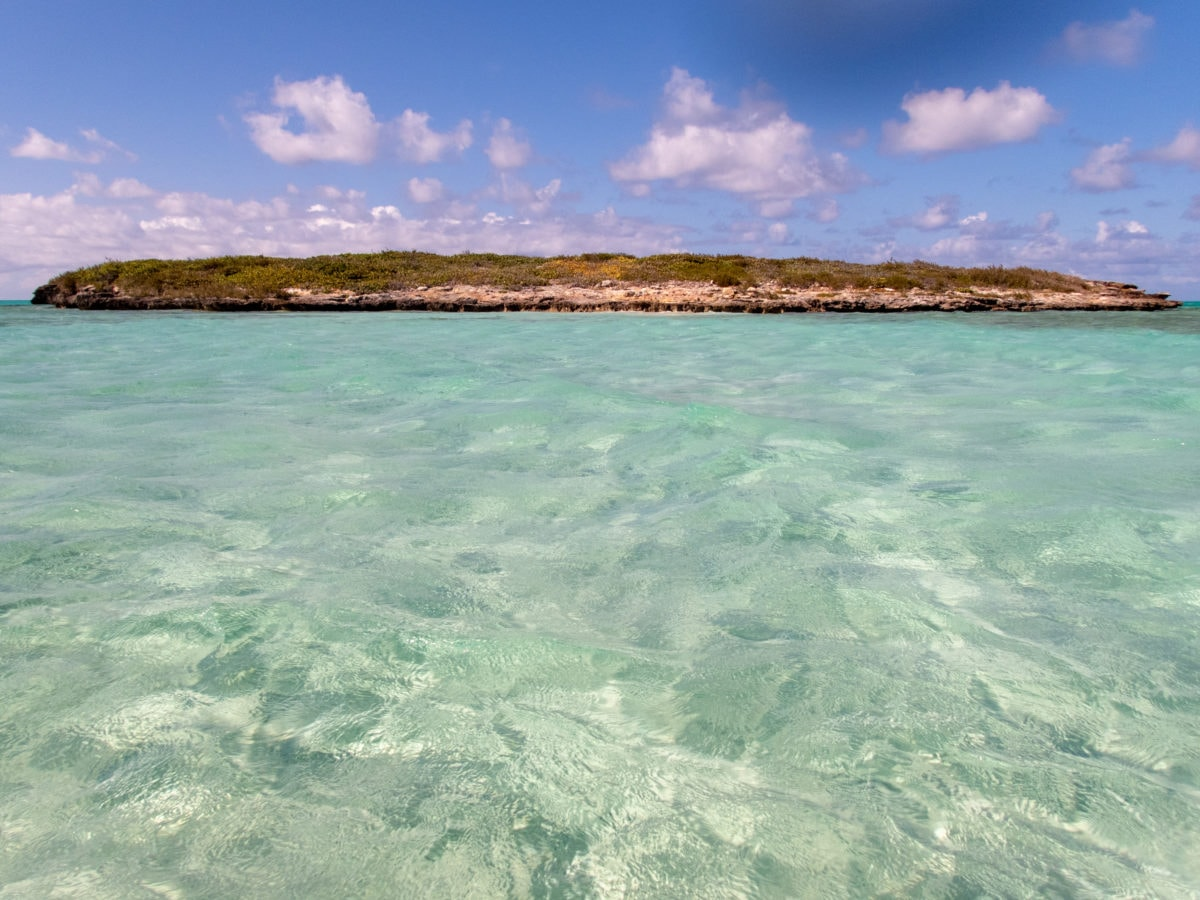In the shallows of Pelican Cay, Middle Caicos | SBPR