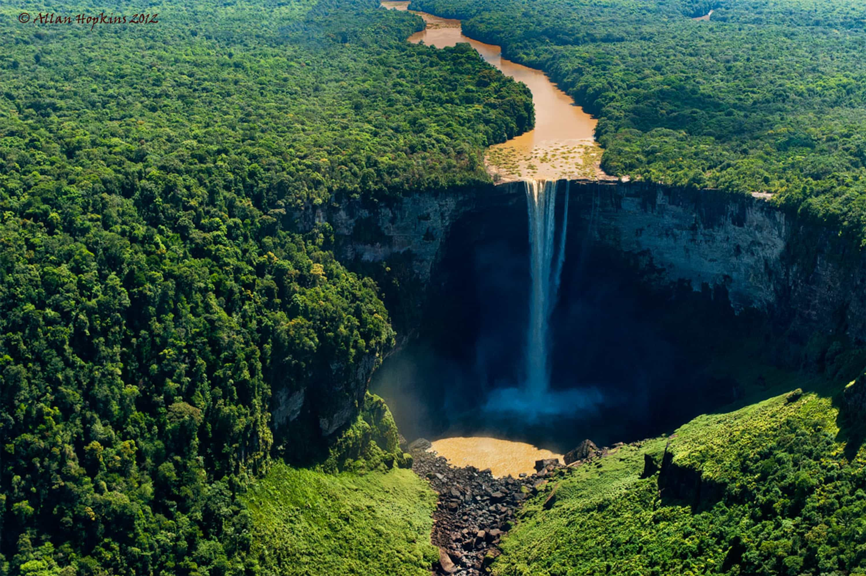 Kaieteur Falls, Guyana | Credit: Flickr user Allan Hopkins