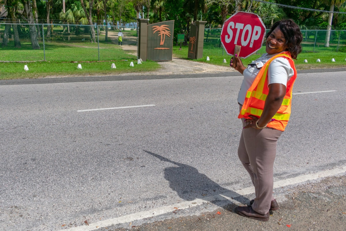 Stopping traffic with style and smiles outside Sunset At The Palms, Negril | SBPR