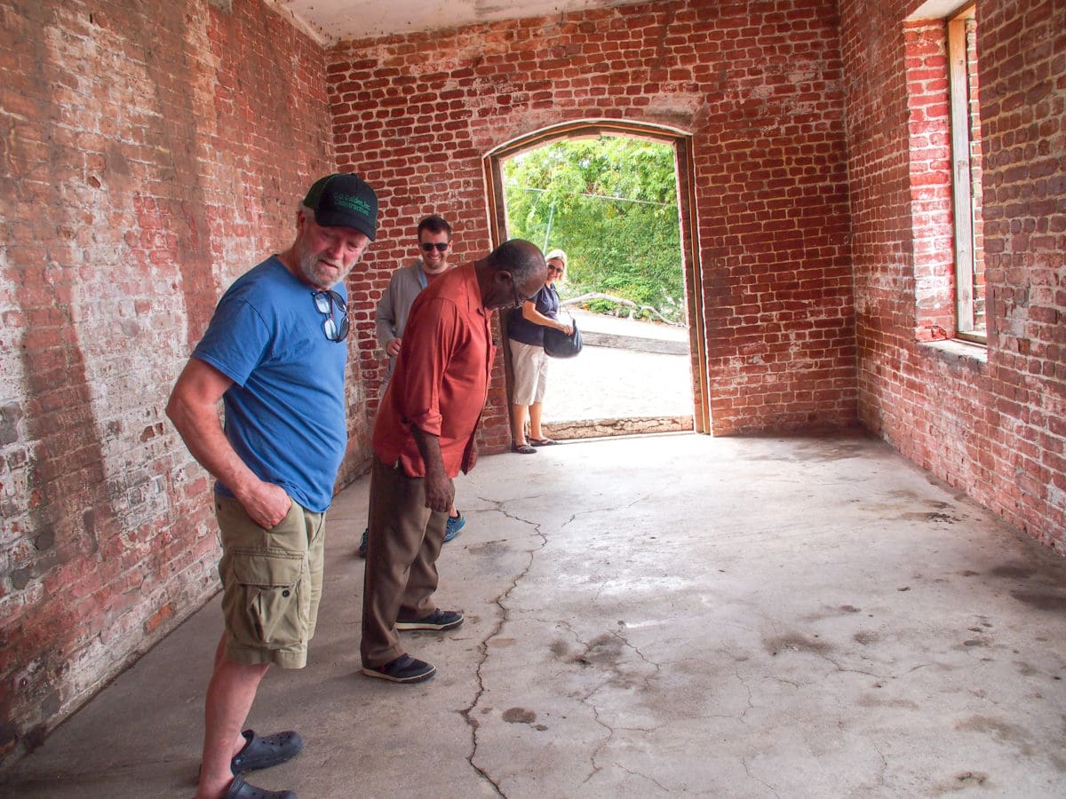 Trying to keep from laughing inside Giddy House, Jamaica | SBPR