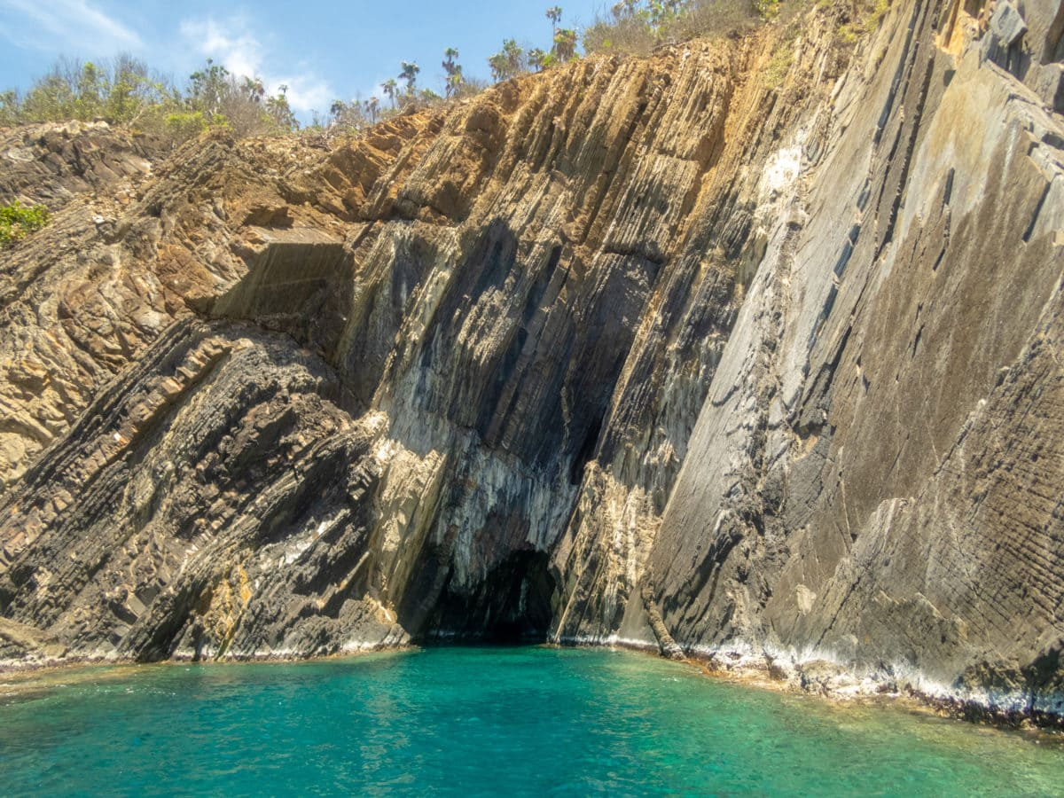 Cave Carved Into Outer Brass Island, St. Thomas | SBPR