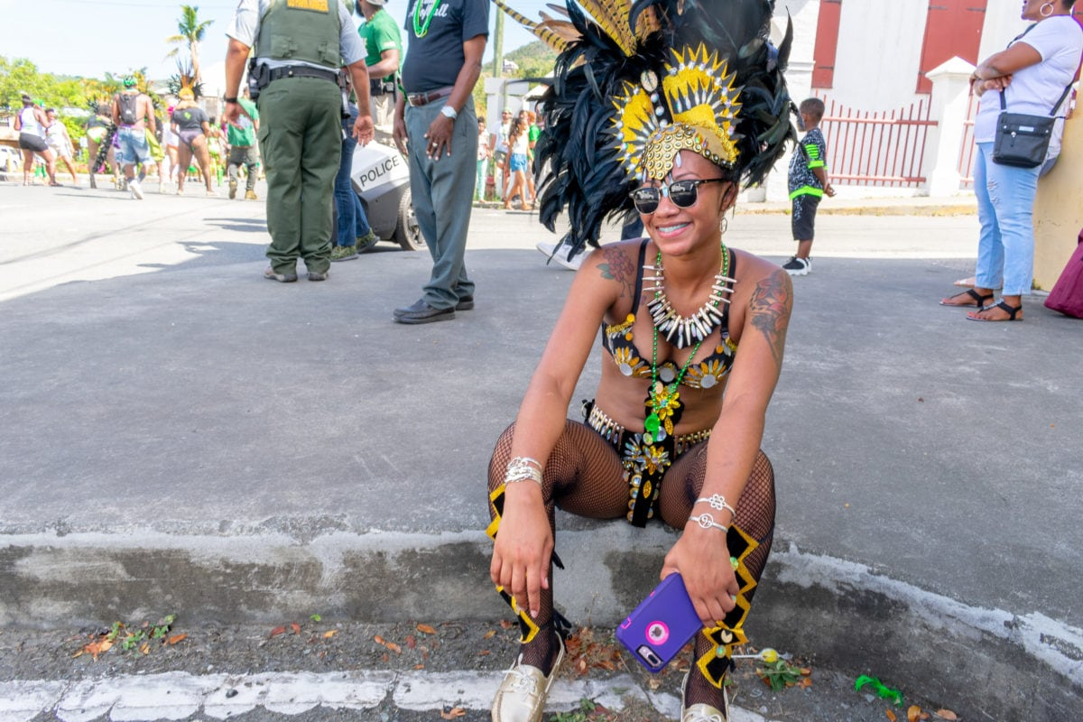 Taking a break from St. Croix St. Patrick's Day Parade 2108 | SBPR