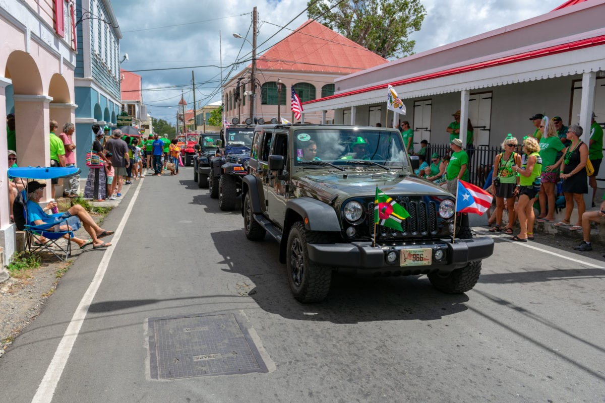Classic cars and jeeps like these are still part of the fun during the St. Croix St. Patrick's Day Parade | SBPR