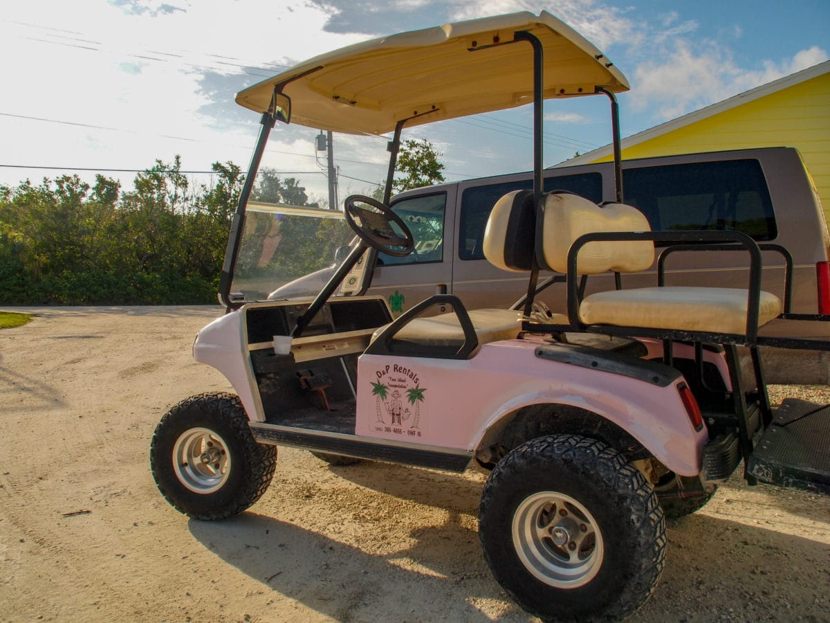 Primary mode of transportation on Green Turtle Cay | SBPR