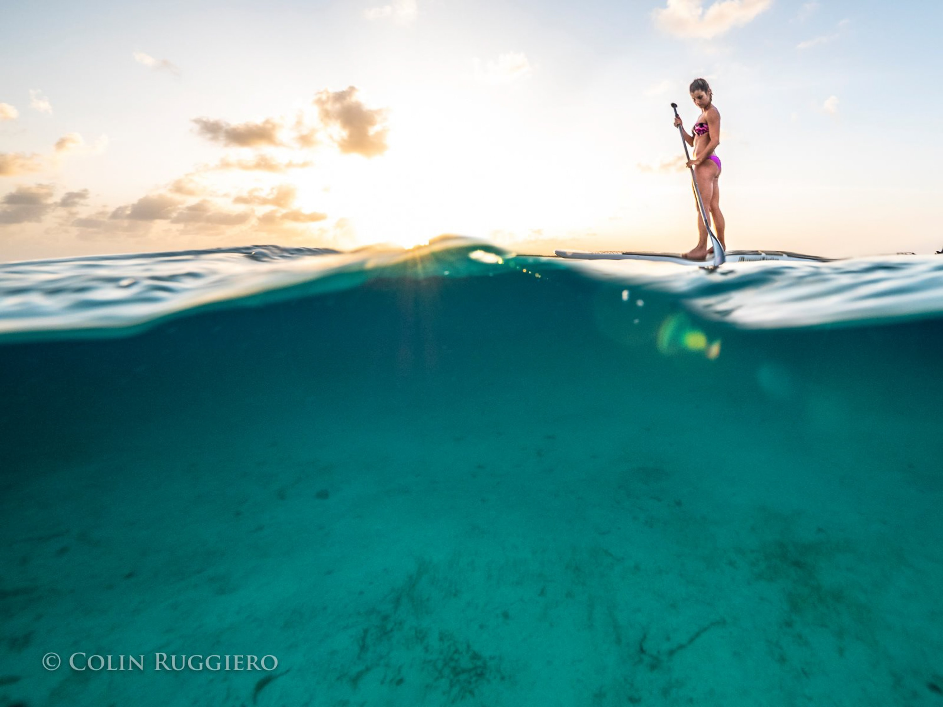Afternoon paddleboarding Staniel Cay | Photo credit: Colin Ruggiero