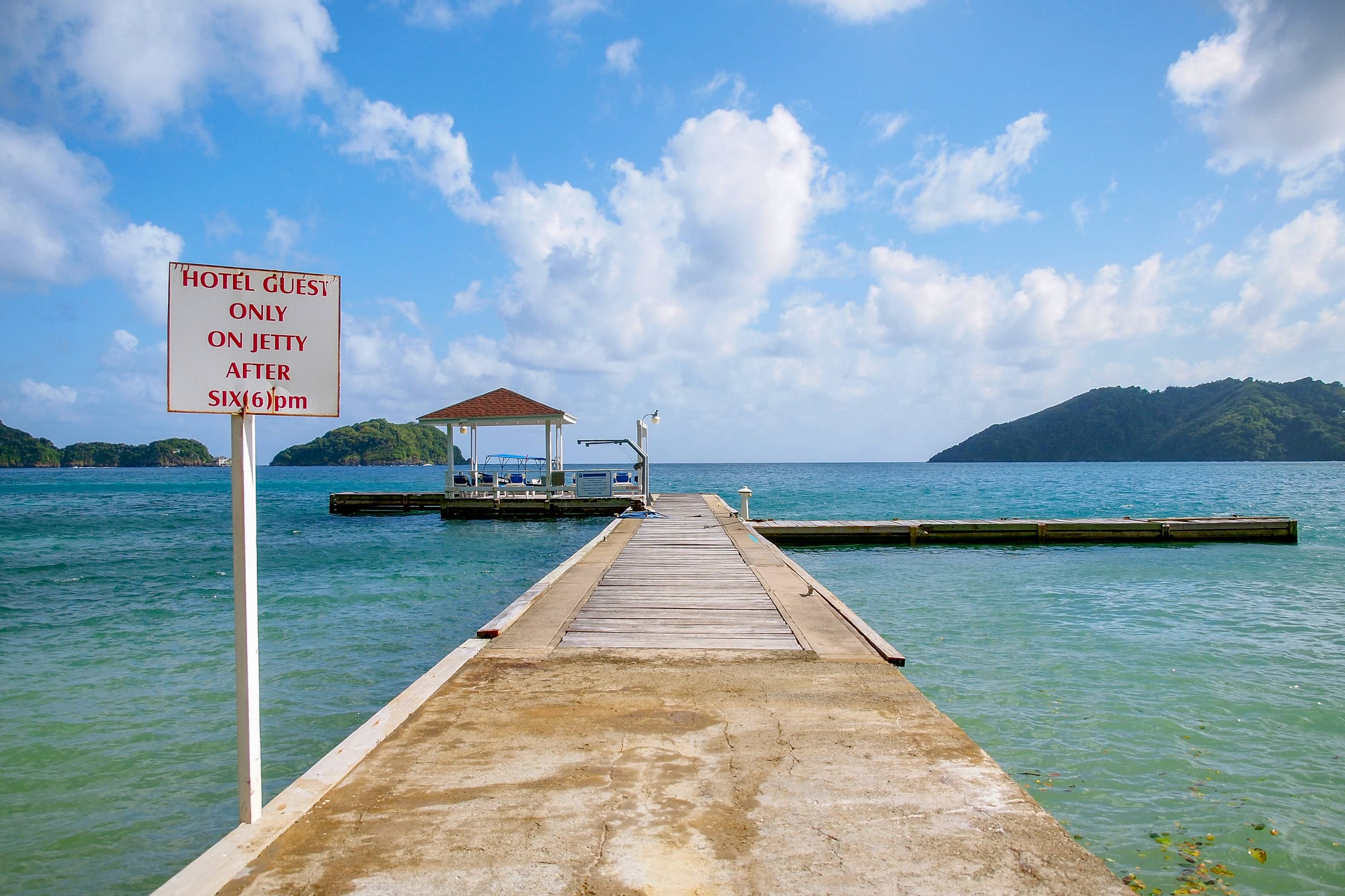 Blue Waters Inn Jetty to Adventure in Tobago