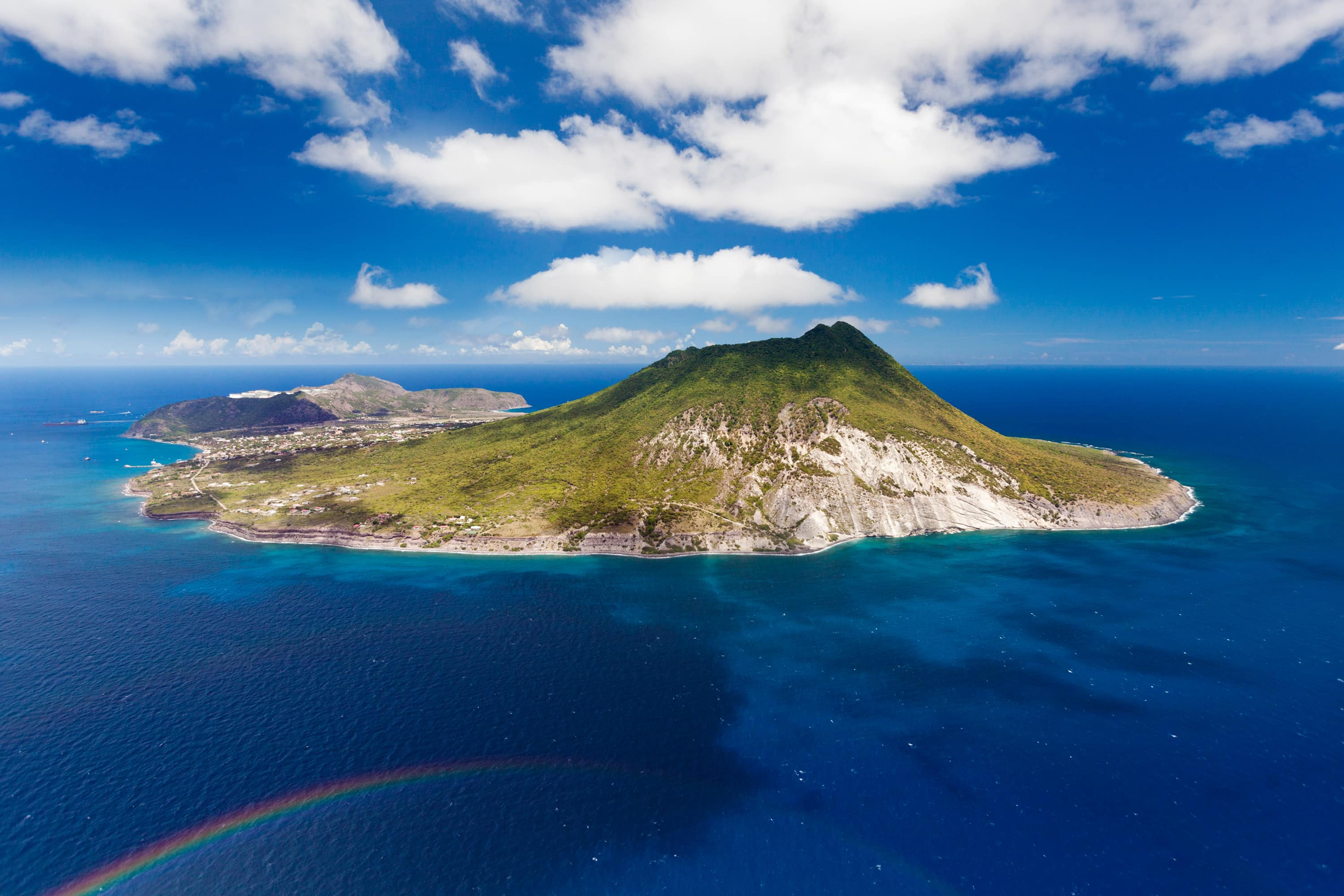 Statia from the sky | Credit: Cees Timmers