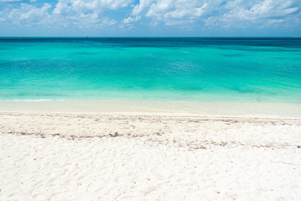 Beach within the Dry Tortugas National Park, Florida Keys