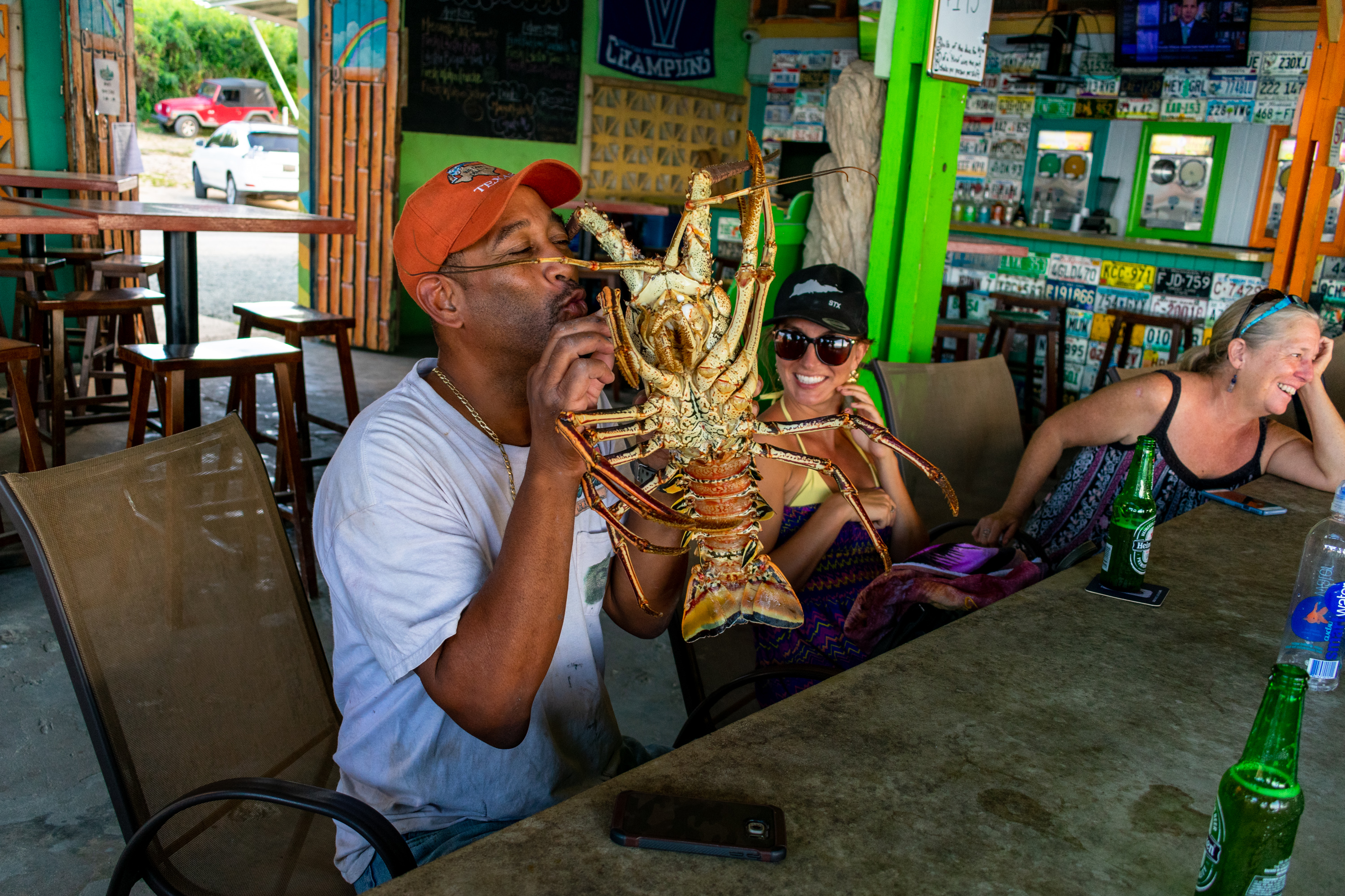 Monster Lobster at Rhythms at Rainbow Beach, St. Croix