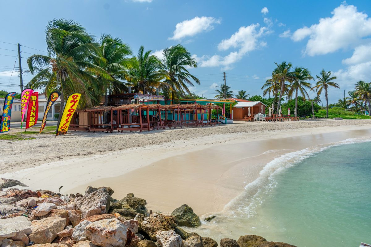 Falcon Nest Bar and Grill on the beach in Island Harbour, Anguilla