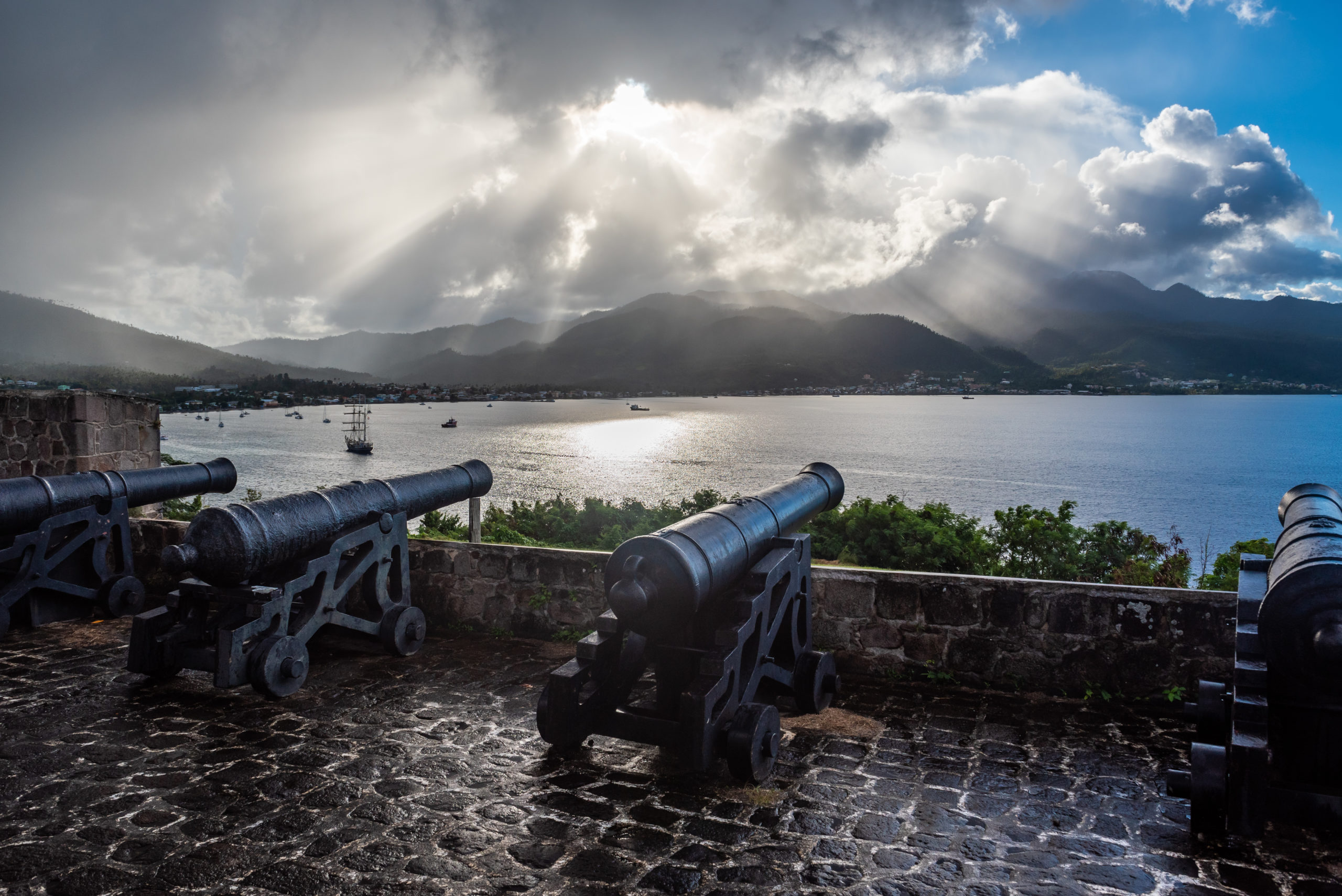 Fort Shirley overlooking Prince Rupert's Bay
