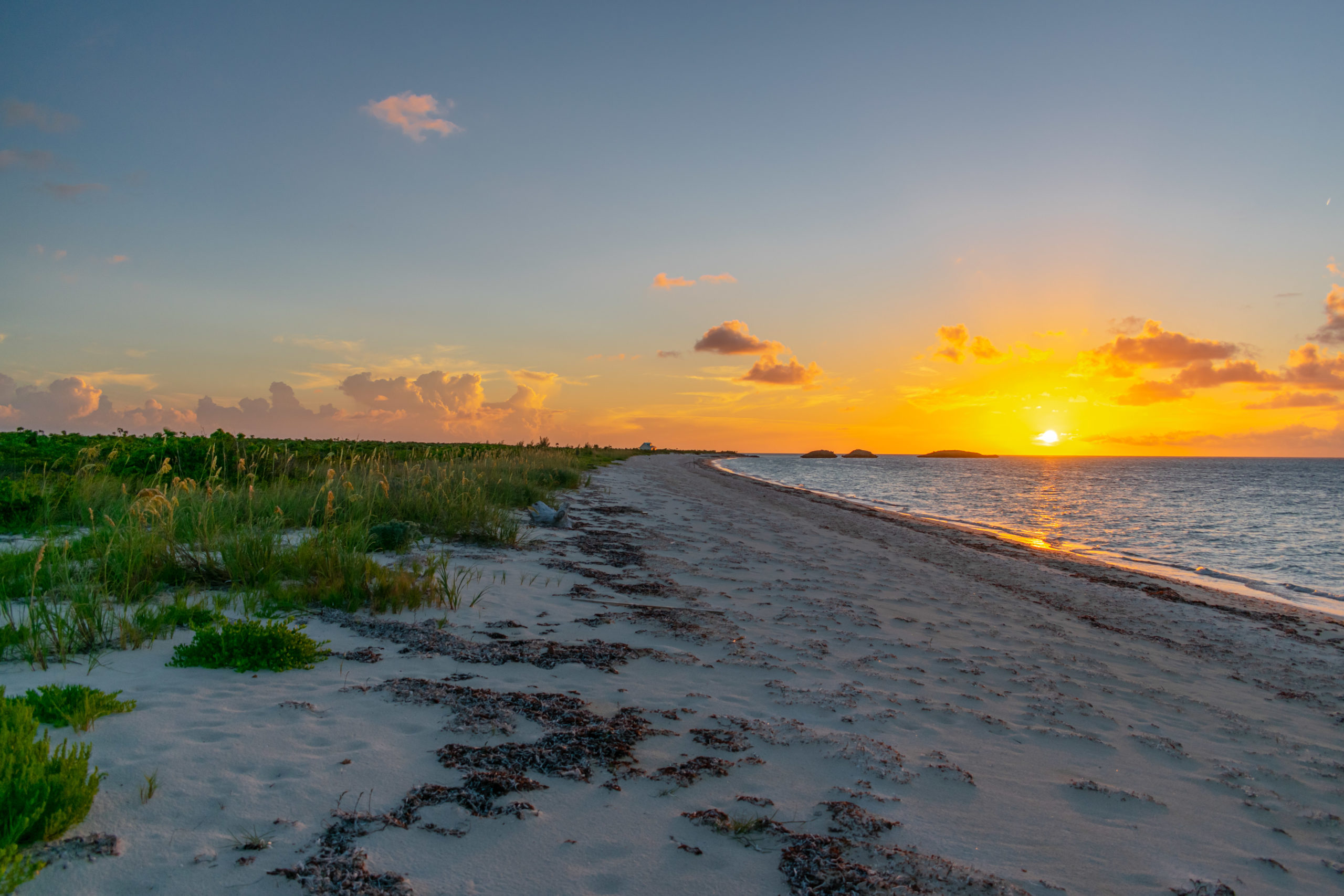Sunset Over Secluded Three Mary Cays, North Caicos