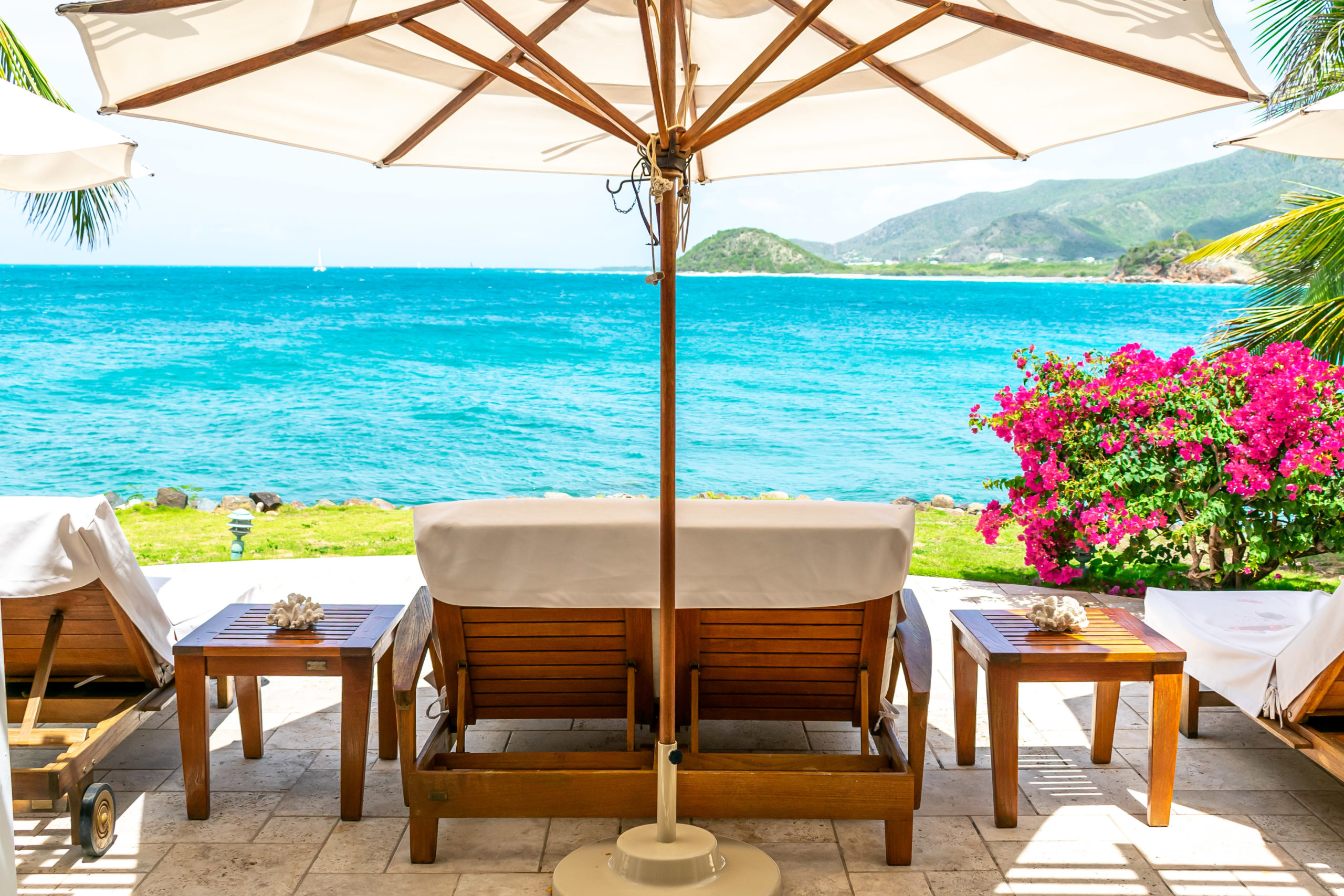 Sweet Spa Seating Above The Sea At Curtain Bluff, Antigua