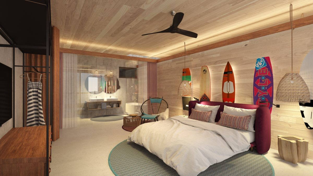 Guest room at the new Saba Rock, BVI